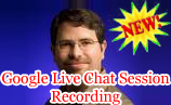 Google Live Chat Session